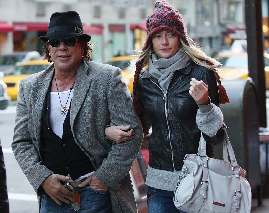 "A number of media outlets, including <i>Star</i> magazine, reported that Mickey Rourke recently ""popped the question to Russian model Elena Kuletskaya,"" and that they ""plan to wed in Moscow in April."" <a href="" http://www.gossipcop.com/slamming-iron-curtain-shut-on-mickey-rourke-wedding-rumor/"" target=""new"">Gossip Cop</a> would be touched by this love story except for a couple of minor details: Rourke is nyet engaged nor is he even dating Elena Kuletskaya. He's dating a woman (pictured) named Ana Makarenko. Close. (Not really.) Lawrence Schwartzwald/<a href=""http://www.splashnewsonline.com/"" target=""new"">Splash News</a> - November 28, 2009"