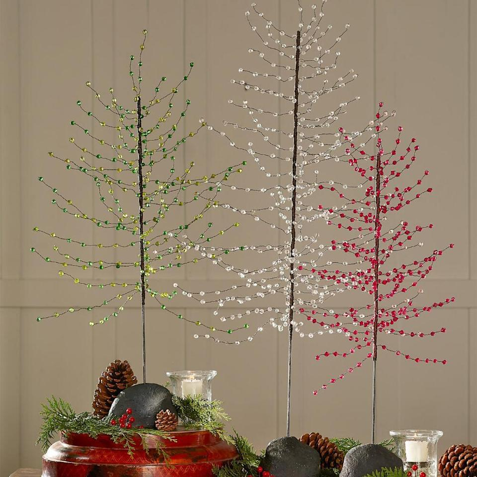 Northern Lights jeweled trees. (Photo: Sundance Catalog)