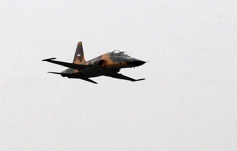 Iran's domestically designed and manufactured Kowsar fighter jet is among the latest weapons systems showcased at the annual Army Day parade in Tehran (AFP Photo/stringer)