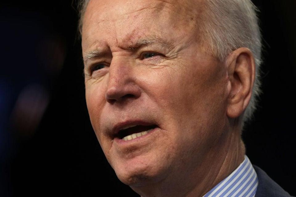 <p>Biden is set to visit the UK, but threats to the NHS and British food and farming standards remain</p> (Getty Images)