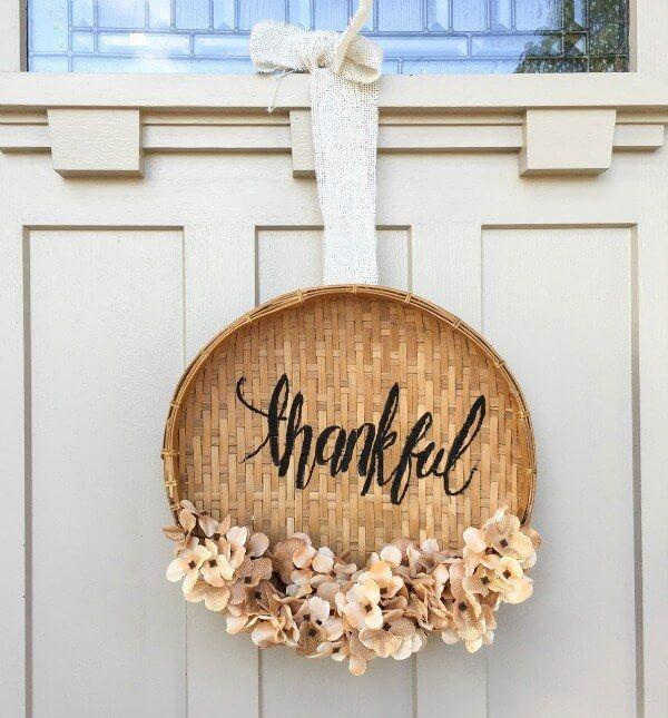 """<p>Why should Easter get all the woven fun? This rustic wreath will have guests singing, """"A-tisket, a-tasket, a <em>Thanksgiving </em>basket.""""</p><p><strong>Get the tutorial at <a href=""""http://www.twelveonmain.com/diy-basket-wreath-thanksgiving/"""" rel=""""nofollow noopener"""" target=""""_blank"""" data-ylk=""""slk:Twelve on Main"""" class=""""link rapid-noclick-resp"""">Twelve on Main</a>.</strong></p><p><a class=""""link rapid-noclick-resp"""" href=""""https://go.redirectingat.com?id=74968X1596630&url=https%3A%2F%2Fwww.etsy.com%2Fsearch%3Fq%3Dbasket%2Blid&sref=https%3A%2F%2Fwww.countryliving.com%2Fentertaining%2Fg1371%2Fthanksgiving-decorations%2F"""" rel=""""nofollow noopener"""" target=""""_blank"""" data-ylk=""""slk:SHOP BASKET LIDS"""">SHOP BASKET LIDS</a></p>"""