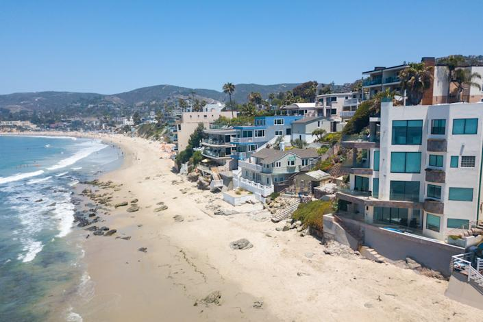 Vacation on the beach in California. Ocean View.