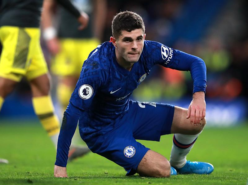 Christian Pulisic has scored five goals for Chelsea so far this season. (Adam Davy/Getty)