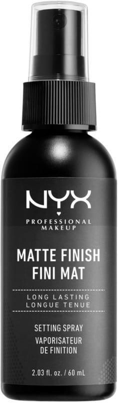 """<p>The <a href=""""https://www.popsugar.com/buy/NYX-Professional-Makeup-Matte-Finish-Makeup-Setting-Spray-457076?p_name=NYX%20Professional%20Makeup%20Matte%20Finish%20Makeup%20Setting%20Spray&retailer=ulta.com&pid=457076&price=9&evar1=bella%3Aus&evar9=41810731&evar98=https%3A%2F%2Fwww.popsugar.com%2Fbeauty%2Fphoto-gallery%2F41810731%2Fimage%2F47575584%2FNYX-Professional-Makeup-Matte-Finish-Makeup-Setting-Spray&list1=makeup%2Cbeauty%20products%2Cbeauty%20shopping%2Cnyx&prop13=api&pdata=1"""" class=""""link rapid-noclick-resp"""" rel=""""nofollow noopener"""" target=""""_blank"""" data-ylk=""""slk:NYX Professional Makeup Matte Finish Makeup Setting Spray"""">NYX Professional Makeup Matte Finish Makeup Setting Spray</a> ($9) is one of the best- selling setting sprays, not just for the brand but in general. It offers a matte finish that locks your makeup in place so you don't have to worry about ruining all of the hard work you put into your beat. </p>"""