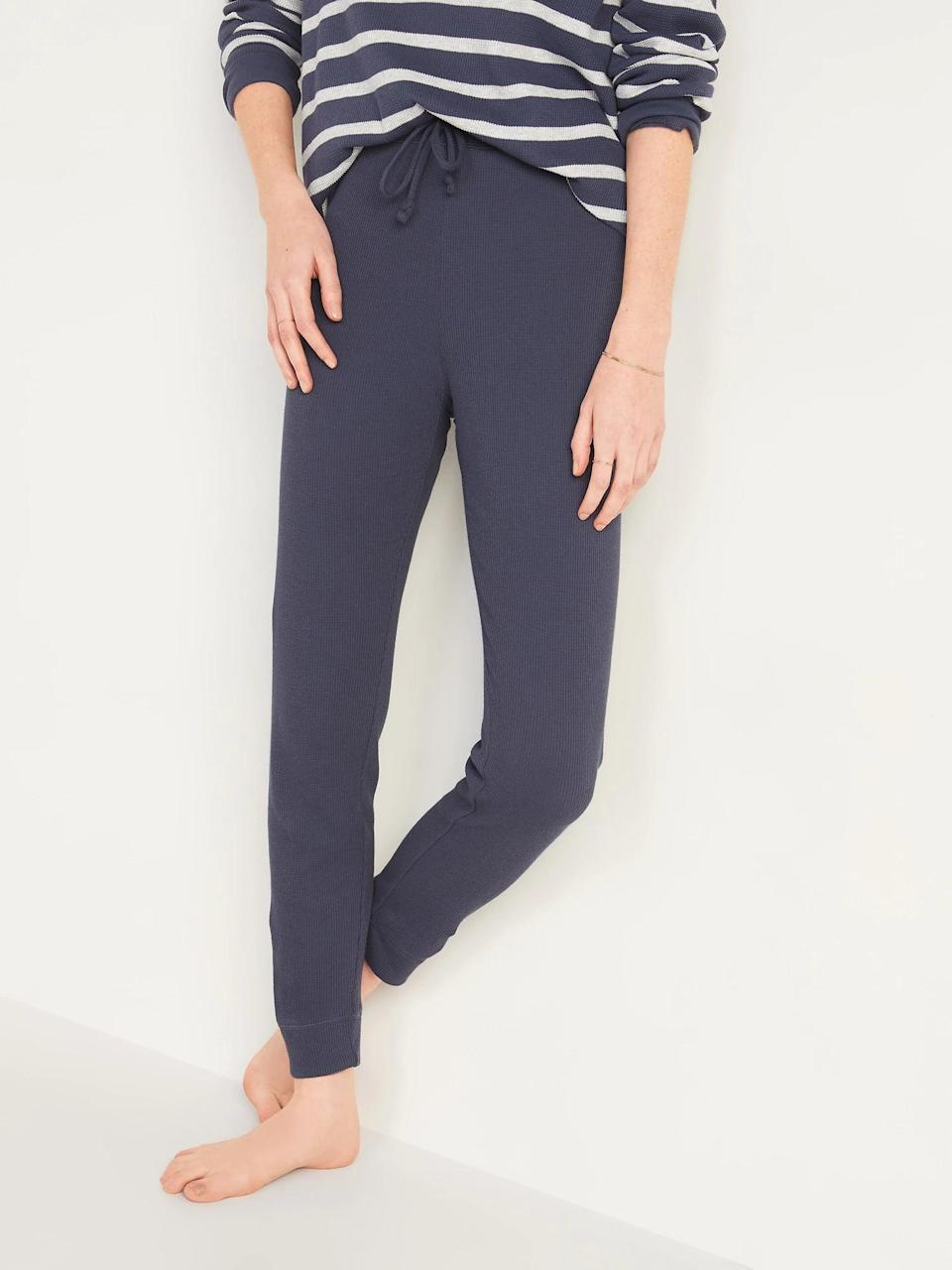 <p>These <span>Old Navy High-Waisted Thermal-Knit Jogger Lounge Pants</span> ($13-$15, originally $25) are the same material as a thermal shirt so there's no doubt you won't stay cozy all day - and night. </p>