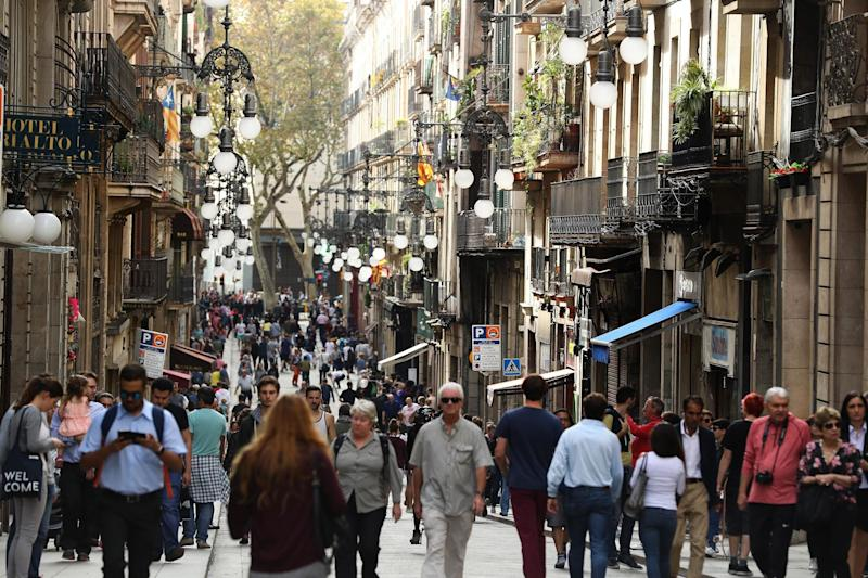 Tourists have continued to visit Barcelona despite the Catalan independence referendum: Getty Images