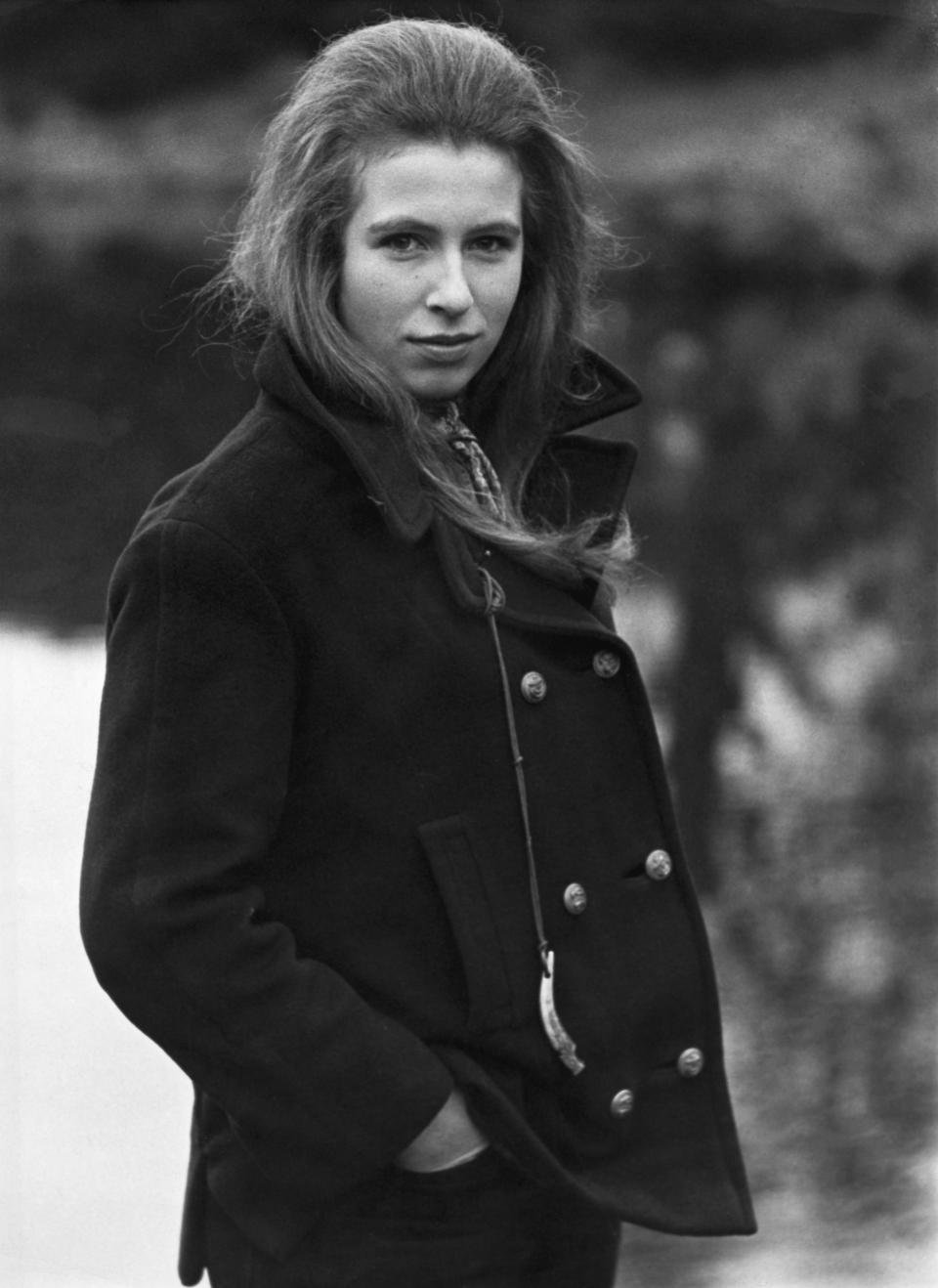 Princess Anne in the grounds of Sandringham, before the 1969 Royal Tour of Australia and New Zealand. (Photo by © Hulton-Deutsch Collection/CORBIS/Corbis via Getty Images)
