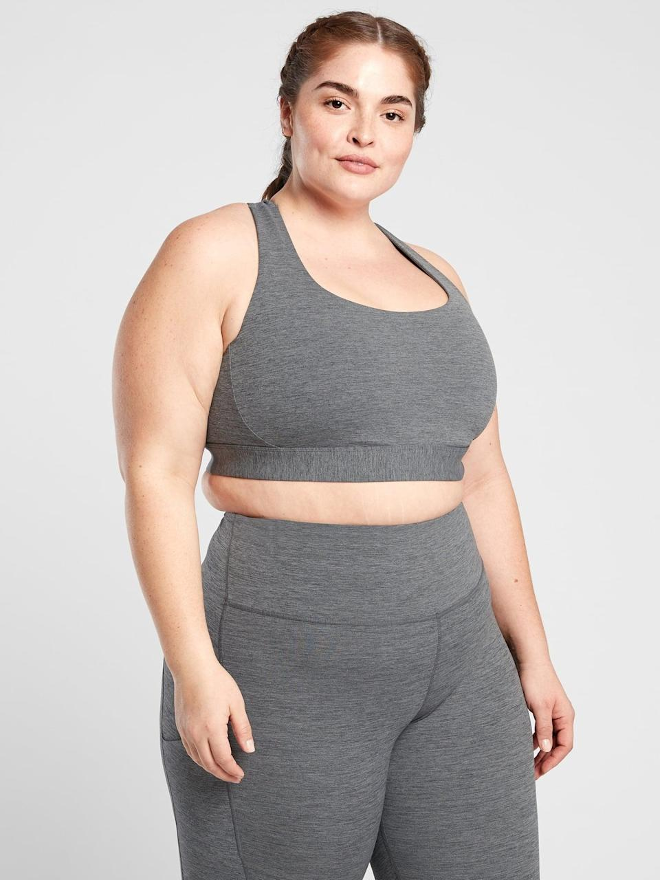 <p>If you're ready to work up a sweat, go with the <span>Athleta Ultimate Bra</span> ($49).</p>
