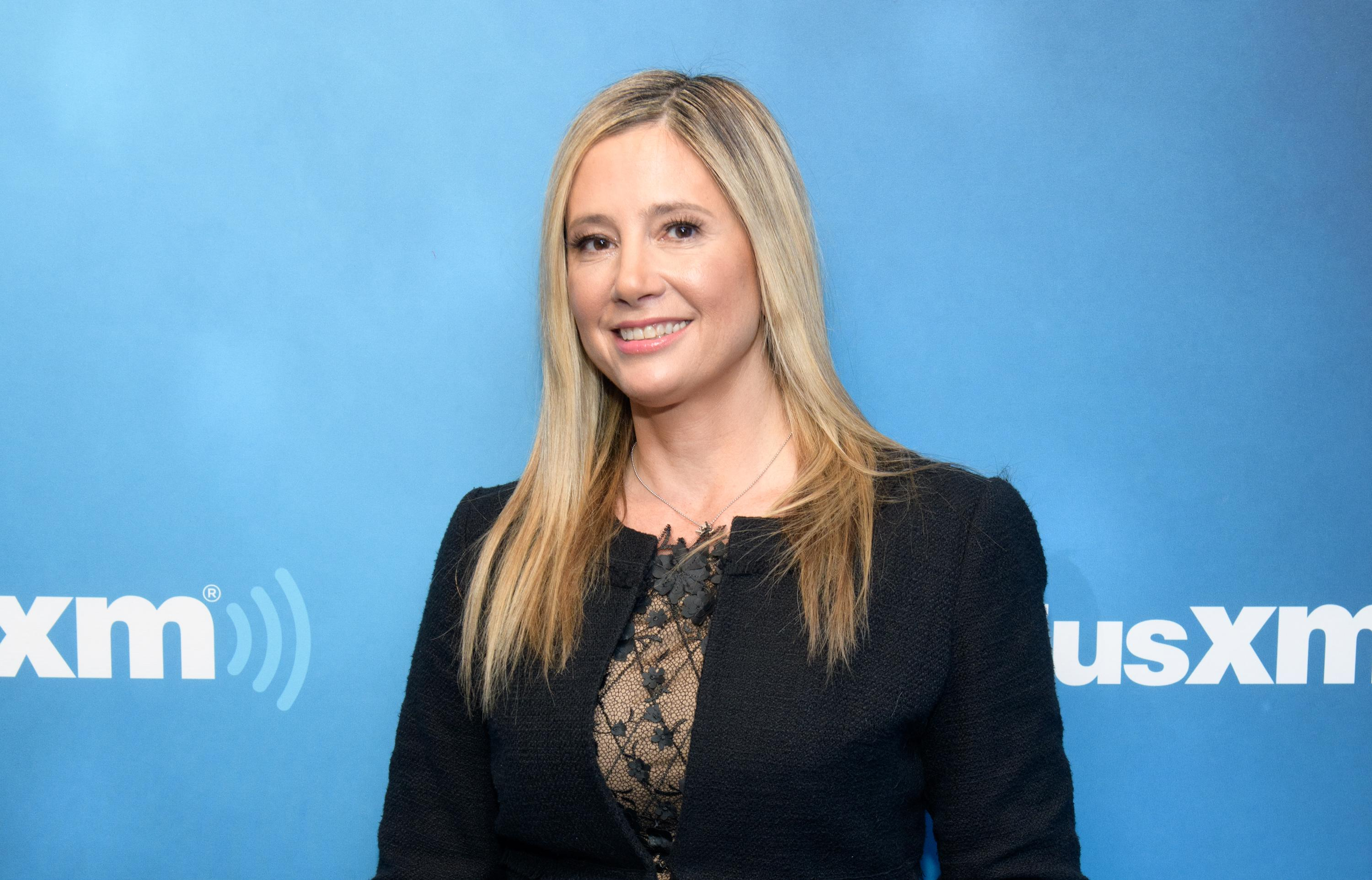 Mira Sorvino poses at the SiriusXM Studios on Nov. 5, 2018, in New York City.