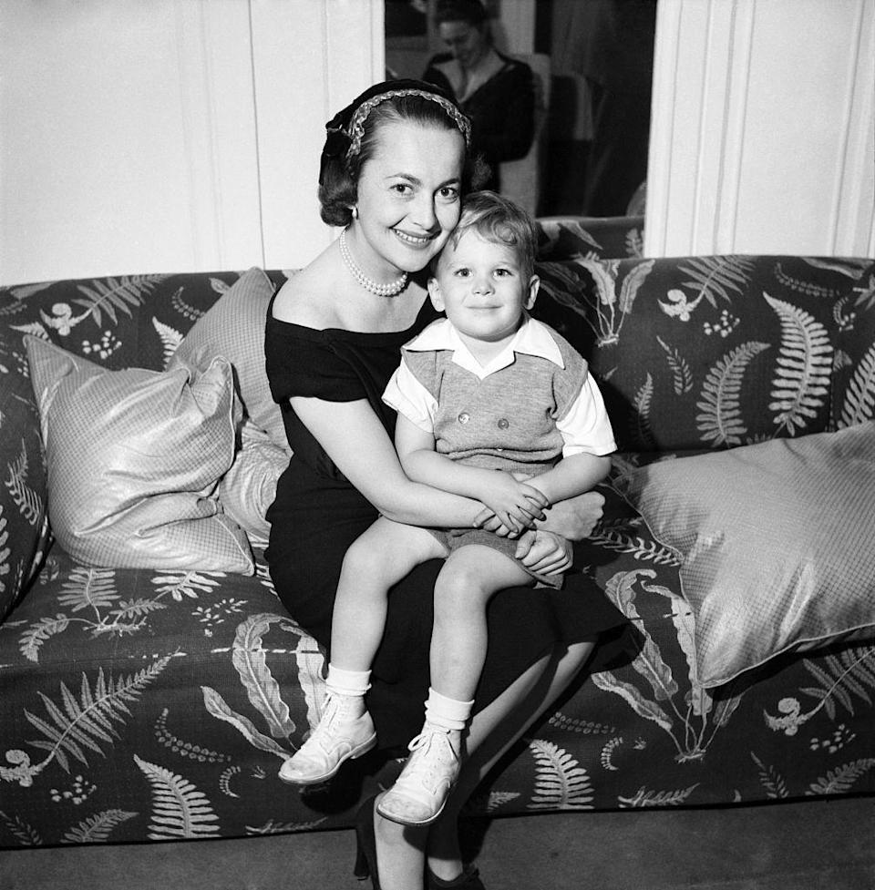 <p>Olivia with her son, Benjamin Goodrich, in 1953.</p>
