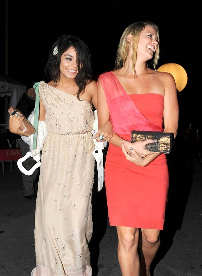 """Vanessa Hudgens is living quite the life of luxury. A couple of weeks ago she was sunning herself on the beach in Mexico during a girls' getaway with Ashley Tisdale, and this week she's been gallivanting around Cannes with a friend. Must be nice! Optic Photos/<a href=""""http://www.pacificcoastnews.com/"""" target=""""new"""">PacificCoastNews.com</a> - May 16, 2011"""