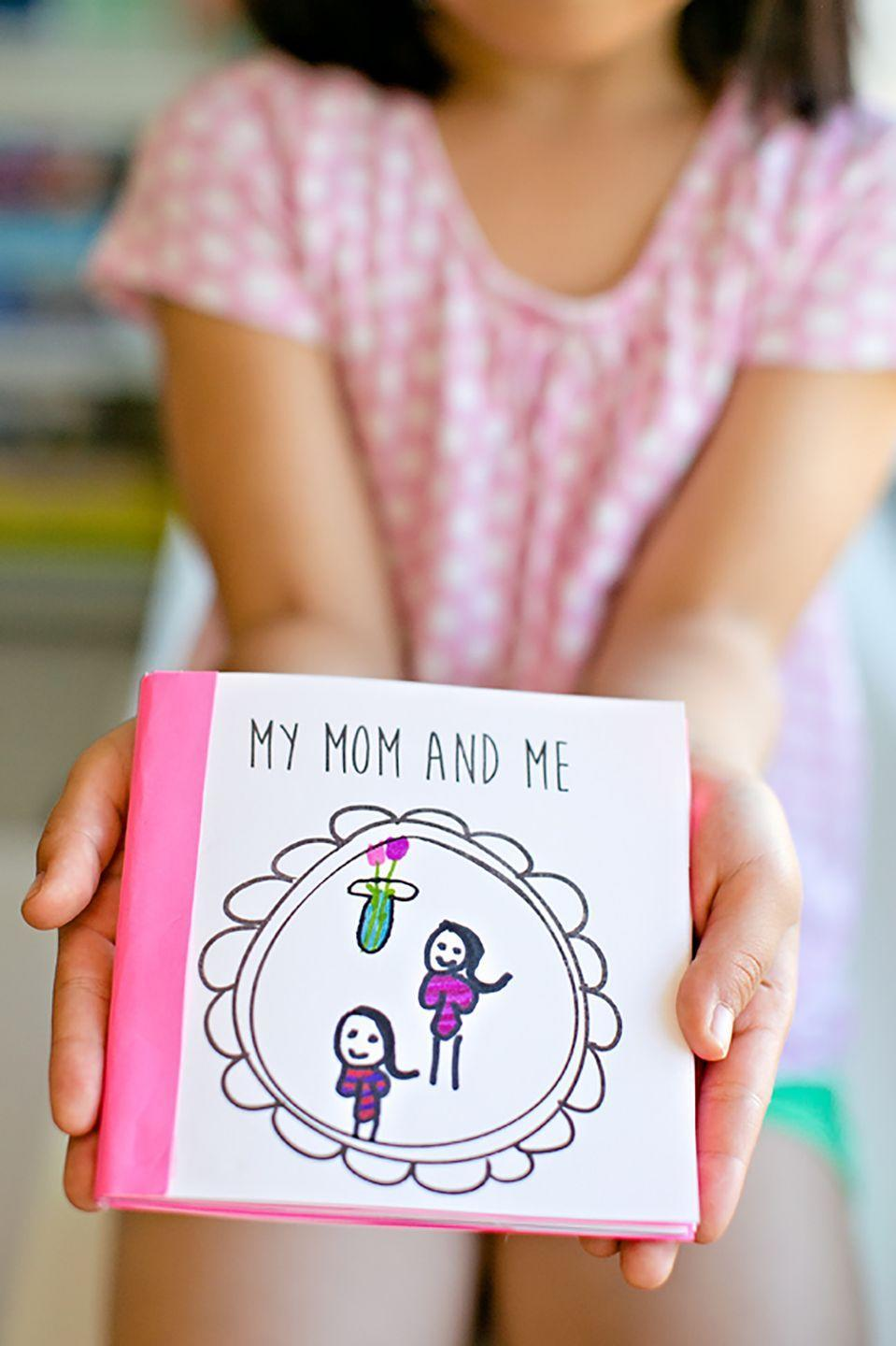 "<p>This precious book can be printed for free online, where you can choose 12 blank frames and 10 prompts for your child to fill out. He or she will complete sentences like, ""My favorite memory of Mom is..."" or ""My mom makes me feel..."" and illustrate the book with drawings throughout. The end result: a truly priceless Mother's Day gift.</p><p><strong>Get the tutorial at <a href=""http://www.hellowonderful.co/post/KID-MADE-FREE-PRINTABLE-MOTHER----S-DAY-BOOK"" rel=""nofollow noopener"" target=""_blank"" data-ylk=""slk:Hello, Wonderful"" class=""link rapid-noclick-resp"">Hello, Wonderful</a>. </strong></p>"