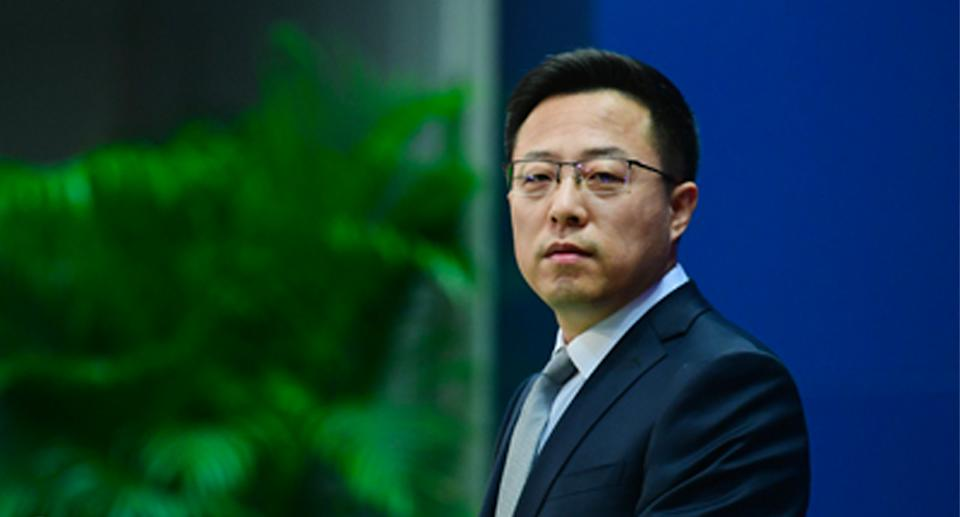 Zhao Lijian displayed his characteristic robust side on Tuesday. Source: FMPRC