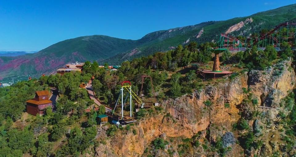 The Haunted Mine Drop ride at the Glenwood Caverns Adventure Park in Colorado. Source: Facebook