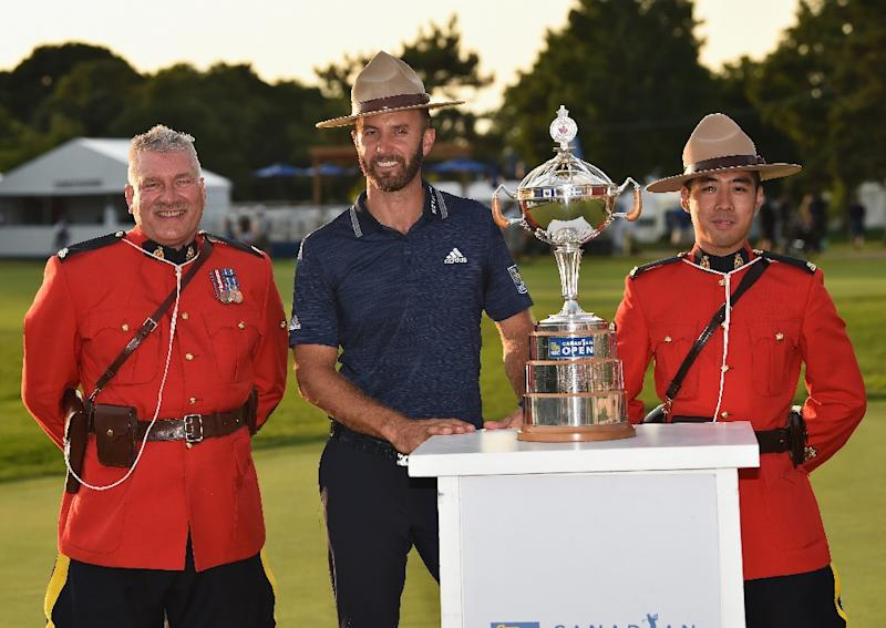 Dustin Johnson shares Canadian Open lead after 65