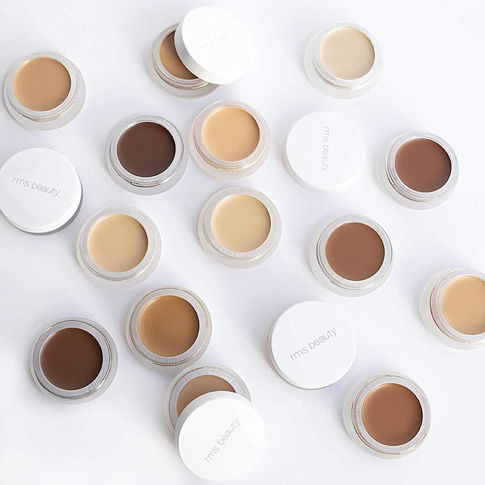 """<p>Apply this lightweight <span>RMS Beauty """"Un""""Cover-Up </span> ($28) with your fingers or a brush.</p> <p><strong>Customer Review:</strong> """"Really love this concealer. It's easy to apply with your finger and goes on super naturally, no cakey look. I often times find it difficult to find a concealer that matches my skin tone. Color 22 was perfect for me. I have olive undertones, tan super easy, and most concealers are just too pink for me; this one matches my shade very well. The coverage is good as well. Just a little bit goes a long way for those light spots but you can build the coverage for those darker imperfections. Super happy with it and will buy again.""""</p>"""