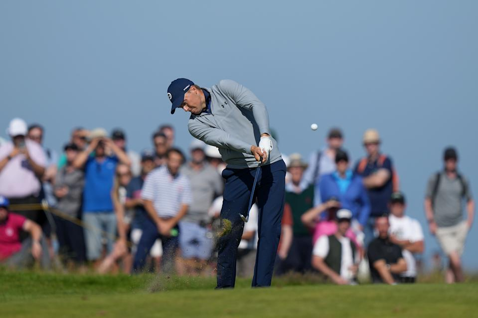 Jordan Spieth's big first round at the British Open helped one bettor cash a big ticket. (Photo by Mike Hewitt/Getty Images)