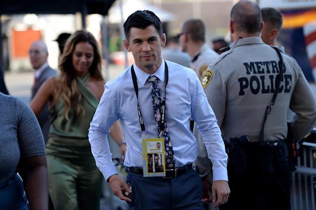 Ex-UFC champion Dominick Cruz, a Fox UFC analyst, opened the 'Picking Against the Pros' segment with Yahoo Sports' Kevin Iole. (Getty Images)