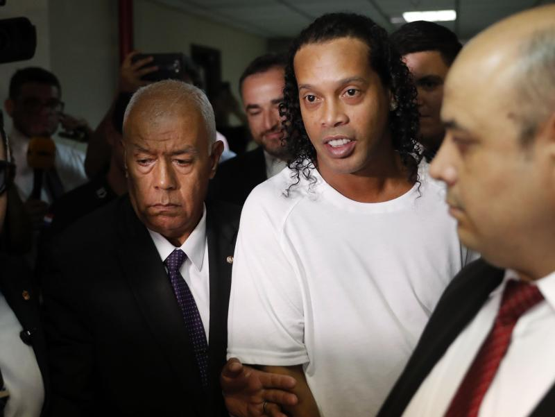 Ronaldinho and his brother allegedly entered Paraguay on Wednesday using fake passports. (AP/Jorge Saenz)