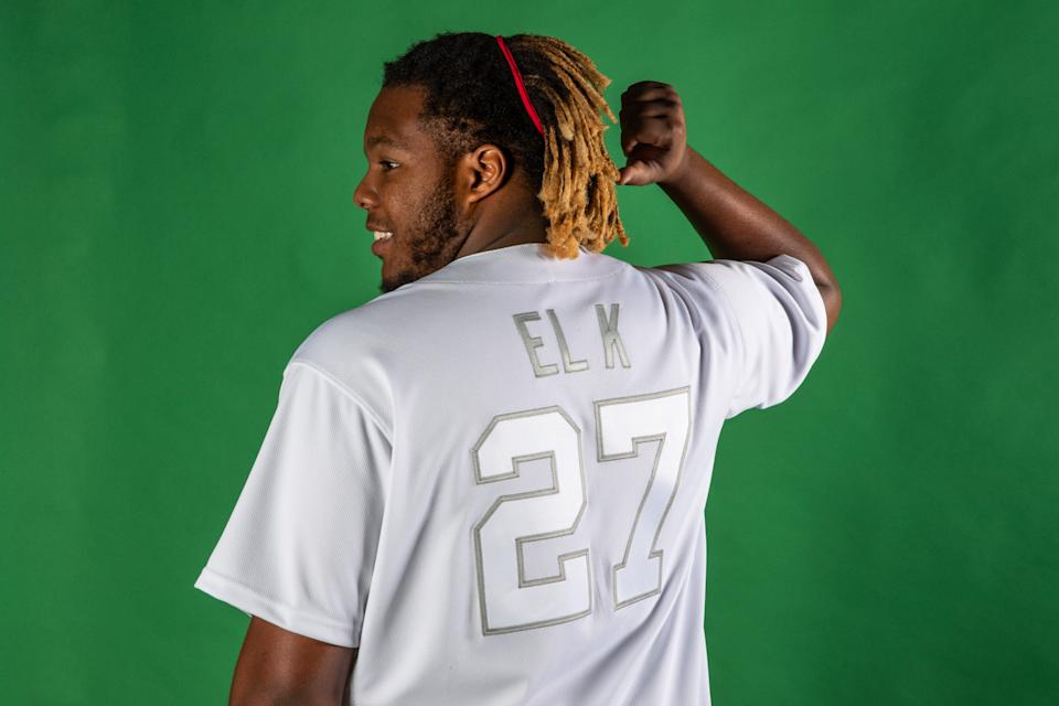 """Vlad Guerrero Jr. will go by """"EL K"""" on Players' Weekend. (Photo by Todd Olszewski/MLB Photos via Getty Images)"""