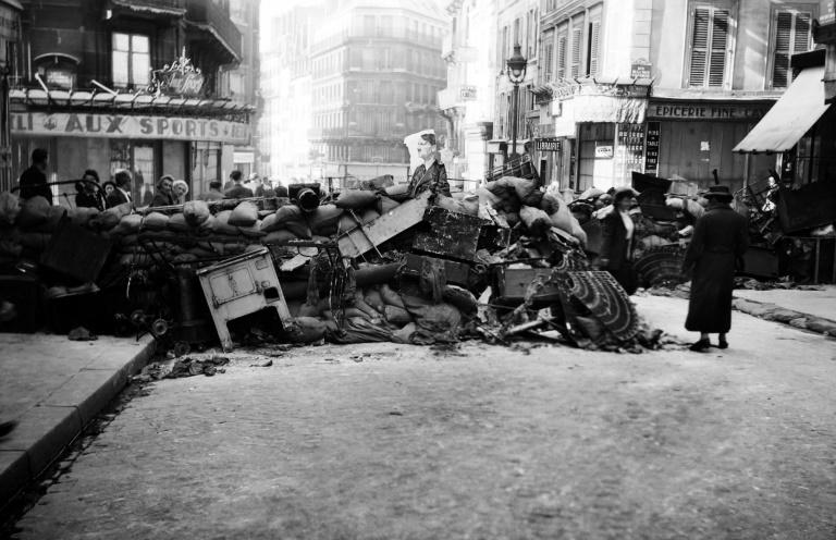 Paris is covered with barricades in August 1944 as fighting intensifies for the liberation of the capital from the Germans (AFP Photo/-)