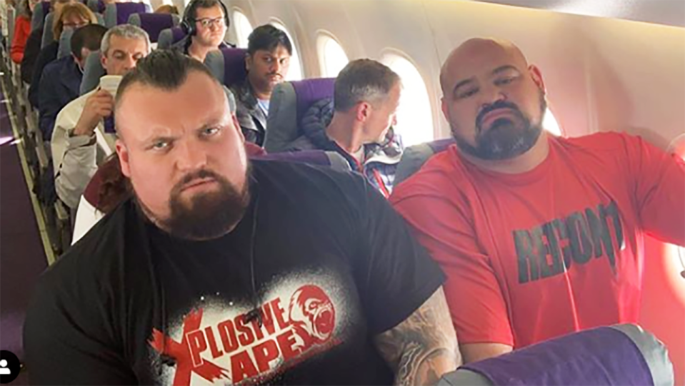 Eddie Hall and Brian Shaw. Image: Instagram