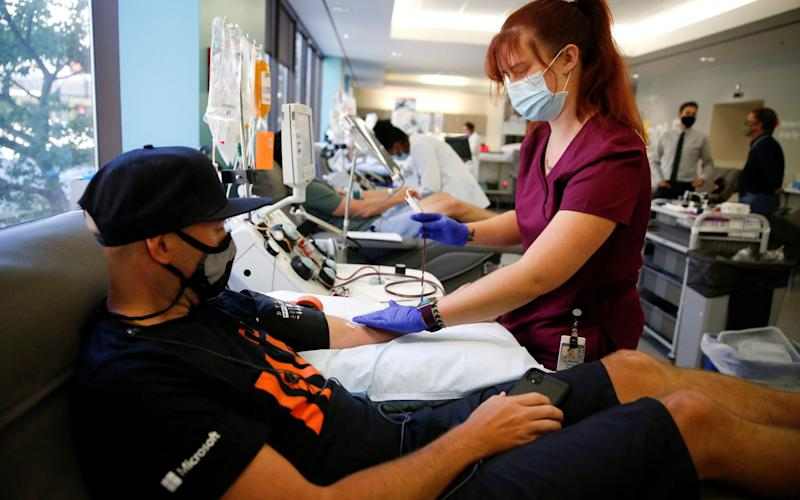 Blood plasma donors - Lindsey Wasson/Reuters