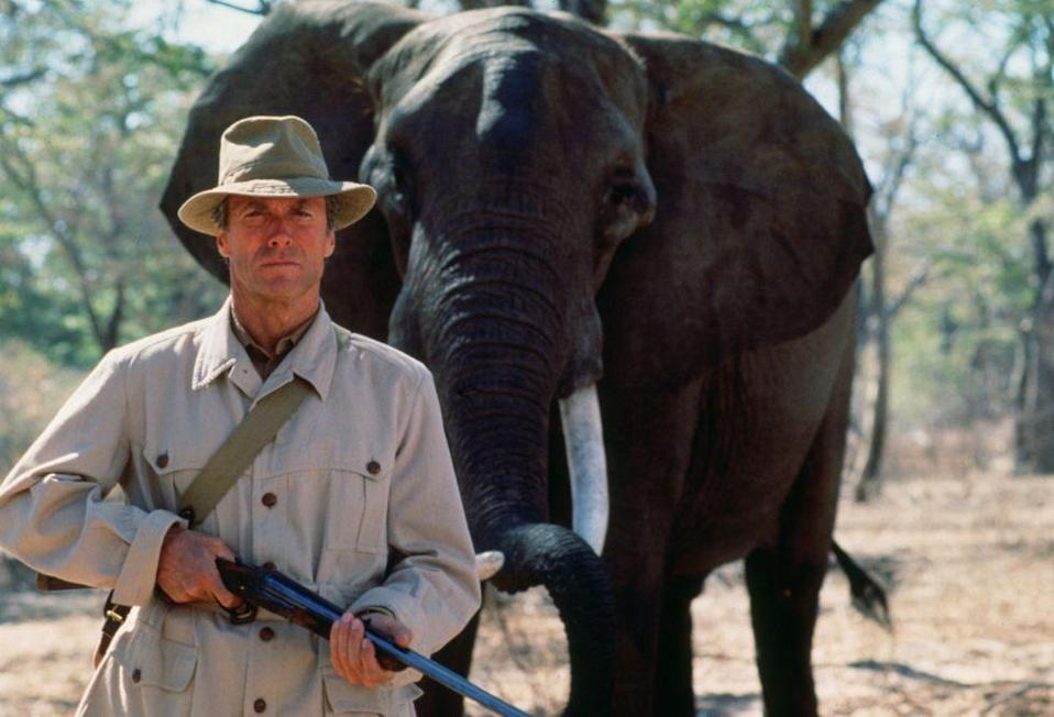 <p>Eastwood starred in the drama <em>White Hunter Black Heart</em>, which was based on the 1953 book of the same name by Peter Viertel. In it, he played a '50s director who was shooting a film in Africa.</p>