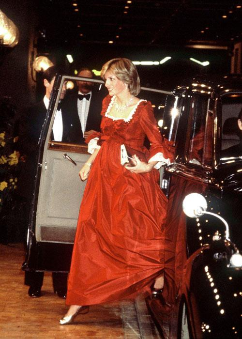 Princess Diana Arriving At The Barbican Centre In London (Photo by Tim Graham/Getty Images)