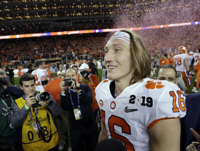 Trevor Lawrence is getting another ring. (AP Photo/David J. Phillip)