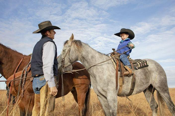 """<p><em>Toy Story</em>, <em>The Good, the Bad and the Ugly</em>, and <em>Little House on the Prairie</em> all have something in common: Western culture, of course. Whether you've long been a fan of Clint Eastwood and Laura Ingalls Wilder, or you're over the moon for childhood classics with Sheriff Woody, there's something about the camaraderie and costumes found in <a href=""""https://www.thepioneerwoman.com/news-entertainment/g32034709/best-western-movies/"""" rel=""""nofollow noopener"""" target=""""_blank"""" data-ylk=""""slk:Western movies"""" class=""""link rapid-noclick-resp"""">Western movies</a>, shows, and books that create a great source of inspiration for DIY <a href=""""https://www.thepioneerwoman.com/home-lifestyle/crafts-diy/g33300806/easy-halloween-costumes-for-women/"""" rel=""""nofollow noopener"""" target=""""_blank"""" data-ylk=""""slk:Halloween costumes"""" class=""""link rapid-noclick-resp"""">Halloween costumes</a>. Ahead, find creative, easy Western Halloween costumes that you can put together with items you likely already own. They make for great <a href=""""https://www.thepioneerwoman.com/holidays-celebrations/g33432754/family-halloween-costume-ideas/"""" rel=""""nofollow noopener"""" target=""""_blank"""" data-ylk=""""slk:family Halloween costumes"""" class=""""link rapid-noclick-resp"""">family Halloween costumes</a> too: Plaid shirts, cowboy hats, and boots will make everyone look fit to work at <a href=""""https://www.thepioneerwoman.com/ree-drummond-life/g33482670/drummond-ranch-cowboys-day-in-the-life/"""" rel=""""nofollow noopener"""" target=""""_blank"""" data-ylk=""""slk:Drummond Ranch"""" class=""""link rapid-noclick-resp"""">Drummond Ranch</a>! Want to look bad to the bone? There are several men's and women's costumes to dress up with. You'll just need to perfect your tough-looking scowl!</p><p>While most of these costumes are DIYs or shoppable options if you need a <a href=""""https://www.thepioneerwoman.com/holidays-celebrations/g33862207/last-minute-halloween-costume-ideas/"""" rel=""""nofollow noopener"""" target=""""_blank"""" data-ylk=""""slk:last-minute costume"""" """