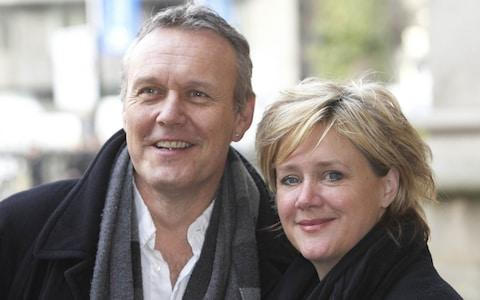 Anthony Head pictured with his partner of 30 years, Sarah Fisher - Credit: Rupert Hartley/REX/Shutterstock