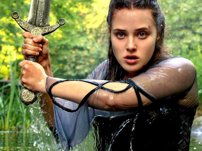 "Katherine Langford as Nimue in ""Cursed."""
