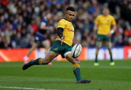 FILE PHOTO: Rugby Union - Autumn Internationals - Scotland vs Australia - BT Murrayfield, Edinburgh, Britain - November 25, 2017 Australia's Will Genia in action REUTERS/Russell Cheyne