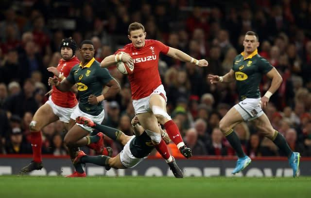 Hallam Amos (pictured) will likely provide back-up to fly-half Rhys Patchell (Andrew Matthews/PA)
