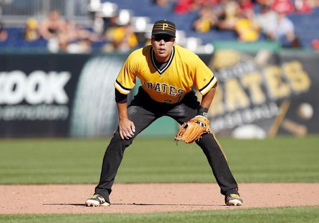 """PIrates infielder <a class=""""link rapid-noclick-resp"""" href=""""/mlb/players/9884/"""" data-ylk=""""slk:Jung-ho Kang"""">Jung-ho Kang</a> has once again found himself in trouble with police. (Getty Images/Justin K. Aller)"""