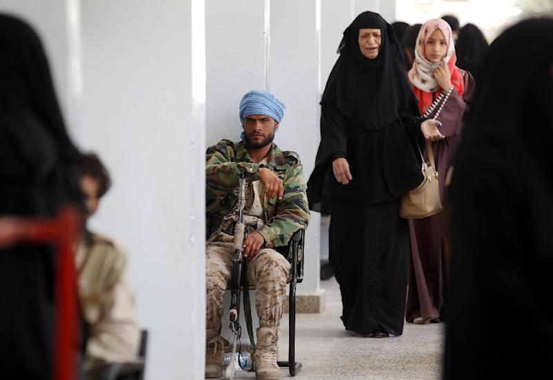 The Iran-aligned Huthi rebels control the capital Sanaa and much of northern Yemen (AFP Photo/Mohammed HUWAIS)