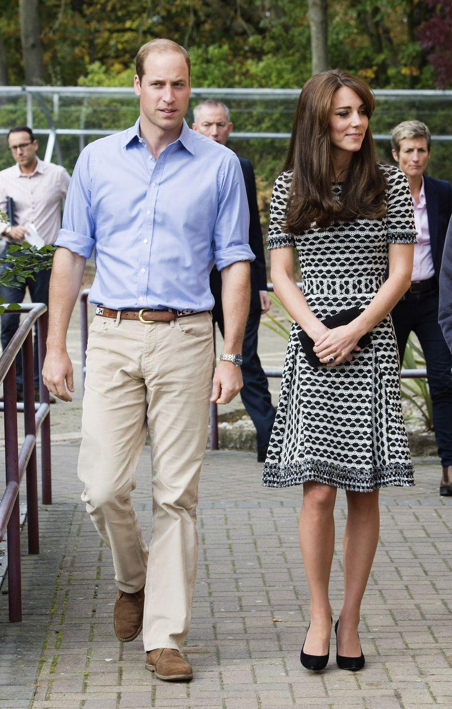 <p>She wore the Tory Burch dress again when at an event at Harrow College in England. </p>