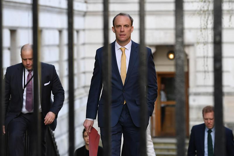 Dominic Raab is 'in charge' of the Government (PA)