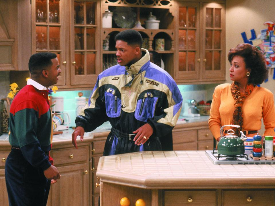 <p>Alfonso Ribeiro, Will Smith and Daphne Reid in 'The Fresh Prince of Bel Air'</p>Rex Features