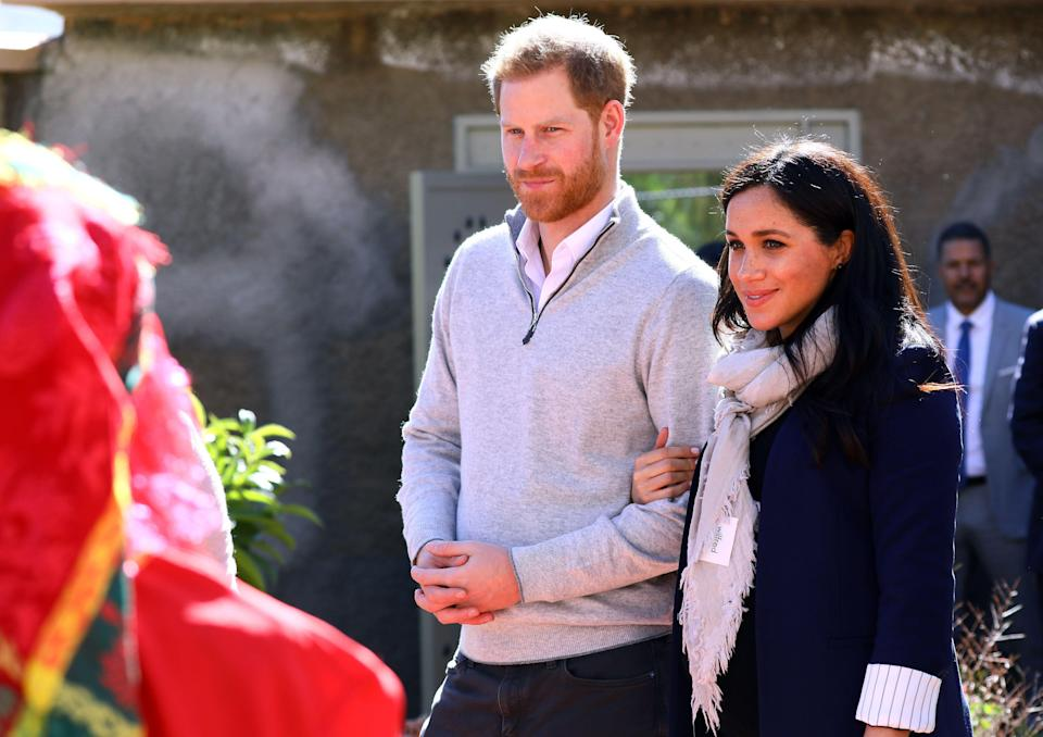 Harry and Meghan in Morocco in February 2019 [Photo: PA]