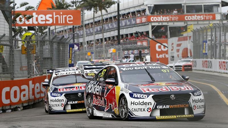 Shane van Gisbergen has won the Supercars Newcastle opening race after starting from pole position