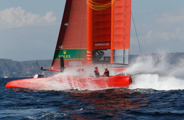 FILE PHOTO: China Sail GP Team compete during the day one of the SailGP event in Marseille
