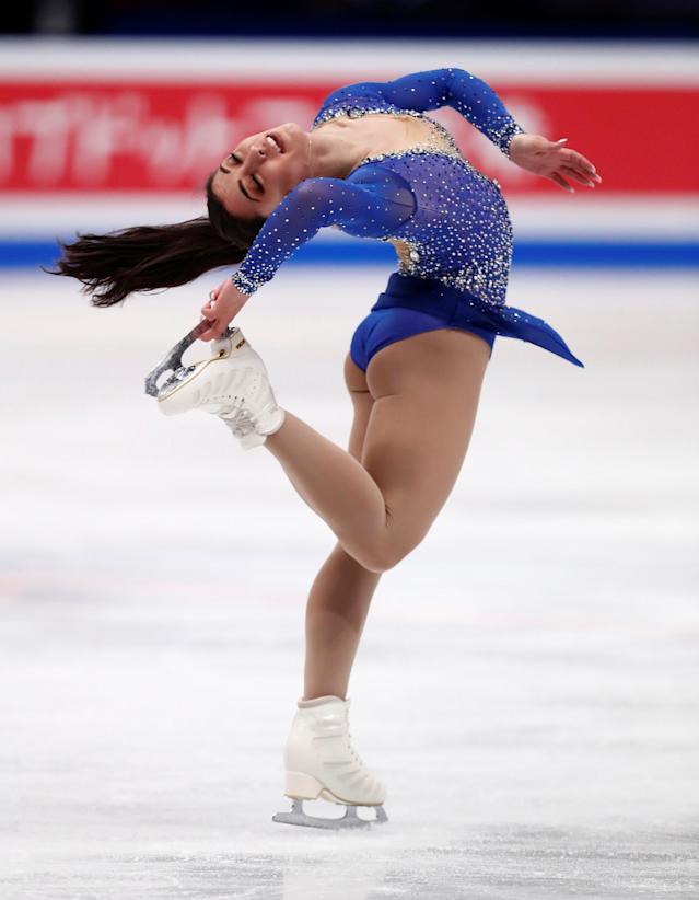 Figure Skating - World Figure Skating Championships - The Mediolanum Forum, Milan, Italy - March 23, 2018 Canada's Gabrielle Daleman during the Ladies Free Skating REUTERS/Alessandro Garofalo