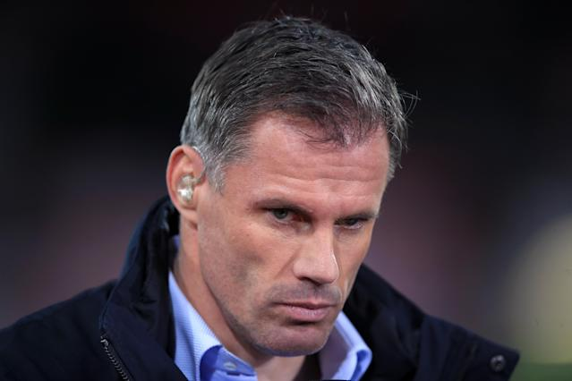 Jamie Carragher has been suspended by Sky after spitting at a man and his daughter