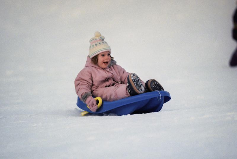 Princess Eugenie, aged five, in Switzerland in 1995 (Getty Images)