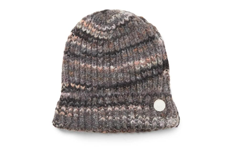 "$70, Mr Porter. <a href=""https://www.mrporter.com/en-us/mens/product/folk/accessories/beanies/highlight-ribbed-knit-beanie/10516758728196221"" rel=""nofollow noopener"" target=""_blank"" data-ylk=""slk:Get it now!"" class=""link rapid-noclick-resp"">Get it now!</a>"