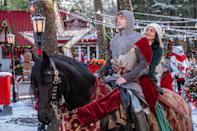 """<p>A medieval knight (Josh Whitehouse) is sent forward in time by a sorceress, but ends up crossing paths with Brooke, a clever, kind science teacher (<a class=""""link rapid-noclick-resp"""" href=""""https://www.popsugar.com/Vanessa-Hudgens"""" rel=""""nofollow noopener"""" target=""""_blank"""" data-ylk=""""slk:Vanessa Hudgens"""">Vanessa Hudgens</a>). She's all but given up on love, but her newfound friendship with Sir Cole just might change her mind.</p> <p>Watch <a href=""""https://www.netflix.com/title/81026188"""" class=""""link rapid-noclick-resp"""" rel=""""nofollow noopener"""" target=""""_blank"""" data-ylk=""""slk:The Knight Before Christmas""""><strong>The Knight Before Christmas</strong></a> on Netflix now.</p>"""