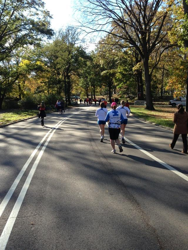#unofficial #nycmarathon runners everywhere you look.