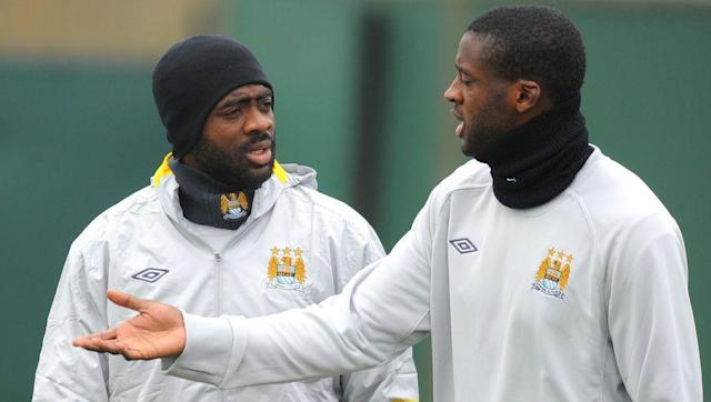 <p>While it could be argued that these two didn't play together during both of these players' best years, they're still a pretty phenomenal duo.</p> <br><p>Kolo made his name amongst the Arsenal Invincibles squad, while Yaya was made in Barcelona - but really blossomed in the Premier League with Manchester City.</p> <br><p>The Toures spent a while together at the Etihad before the older sibling (Kolo) found pastures new on Merseyside. Yaya remains at City, but his future is in doubt at the ripe old age of 34.</p>